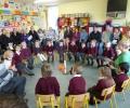 Prayer service for Mrs. Garrahy's Junior Infants