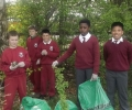 St. Conaire's Students Clean Up