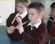 Tin Whistlers in 2nd class