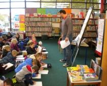 Seniors visit library