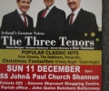 The Three Tenors in concert with St. Conaire's Choir