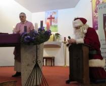 Santa at School Mass