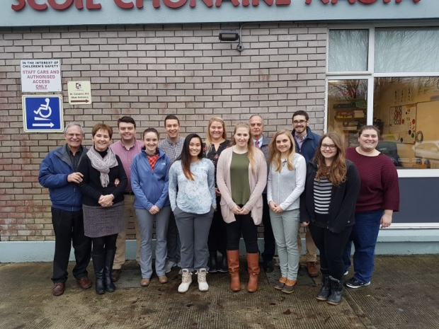 American students visit St. Conaire's